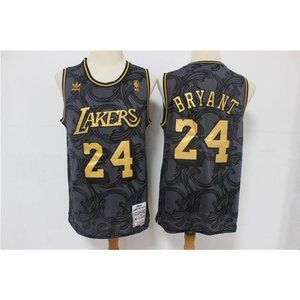 Los Angeles Lakers Kobe Bryant Black Gold Jersey